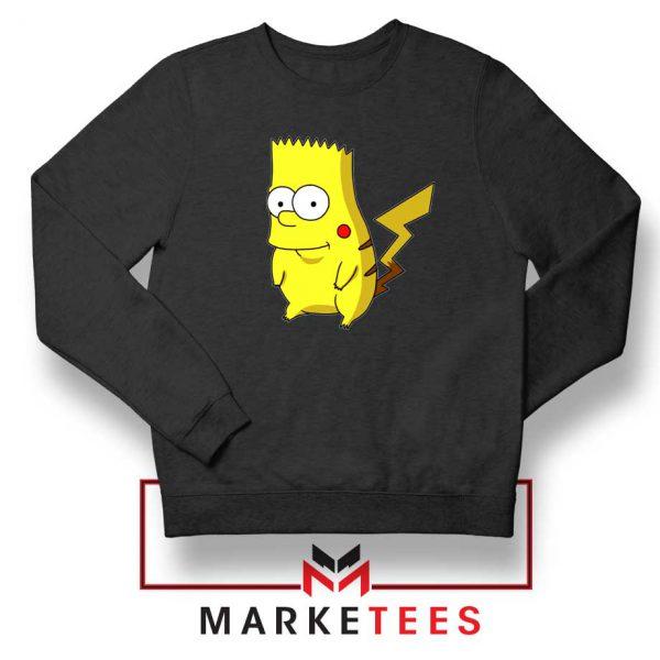 Bart Pikachu Black Sweater