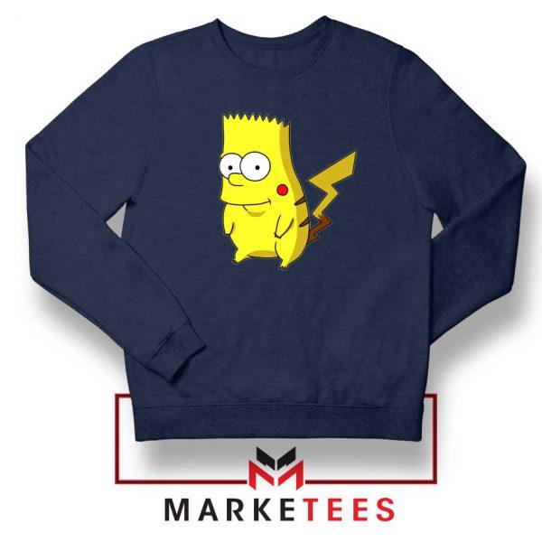 Bart Pikachu Navy Blue Sweater