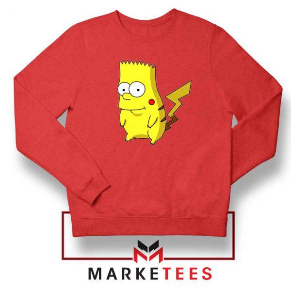 Bart Pikachu Red Sweater