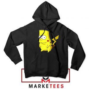 Bart Pikachu Simpson Black Hoodie