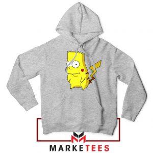 Bart Pikachu Simpson Grey Hoodie