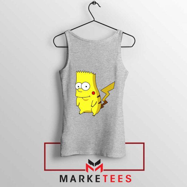 Bart Pikachu Simpson Grey Tank Top