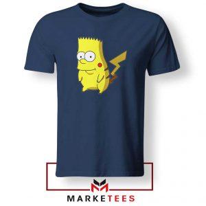 Bart Pikachu Simpson Navy Blue Tee Shirt
