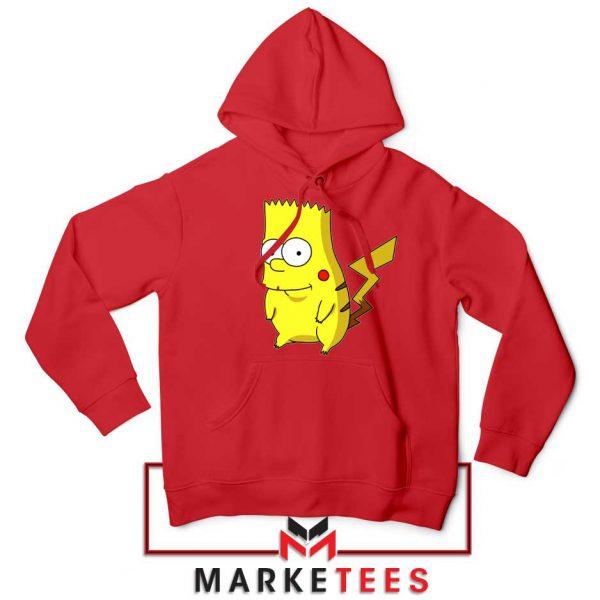 Bart Pikachu Simpson Red Hoodie