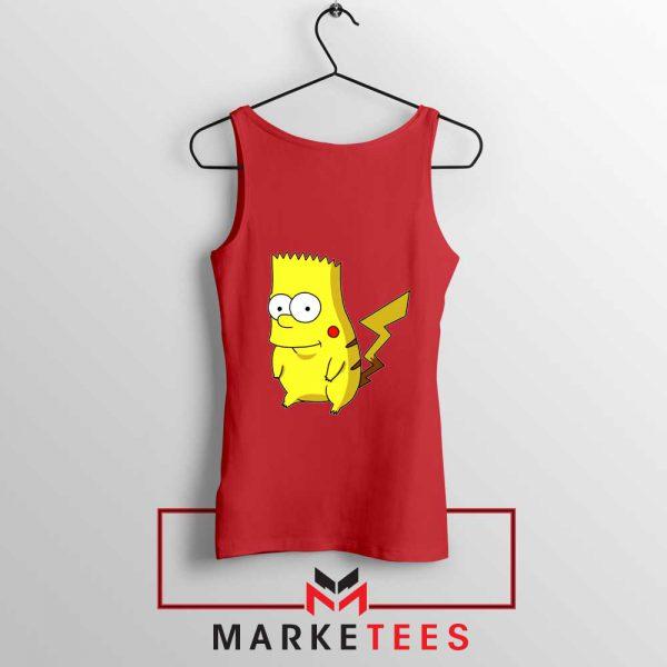 Bart Pikachu Simpson Red Tank Top