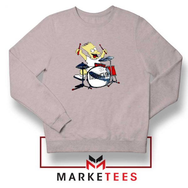 Bart Plays The Drums Grey Sweatshirt