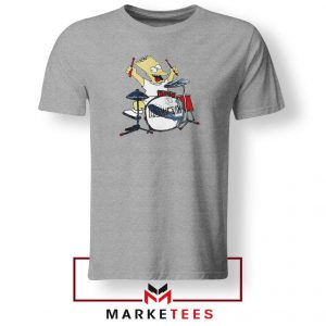 Bart Plays The Drums Grey Tee Shirt