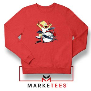 Bart Plays The Drums Red Sweatshirt