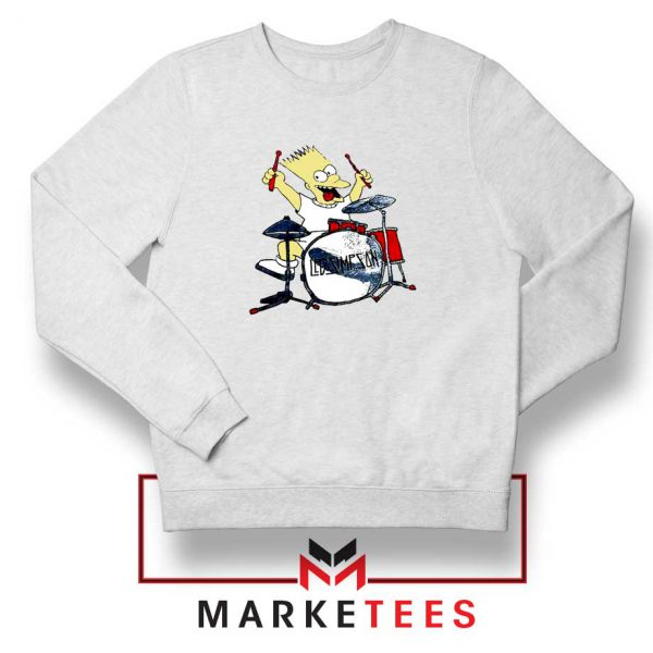 Bart Plays The Drums White Sweatshirt