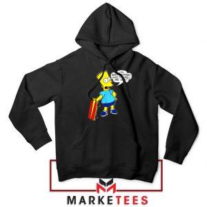 Bart Simpson Cartoon Black Hoodie