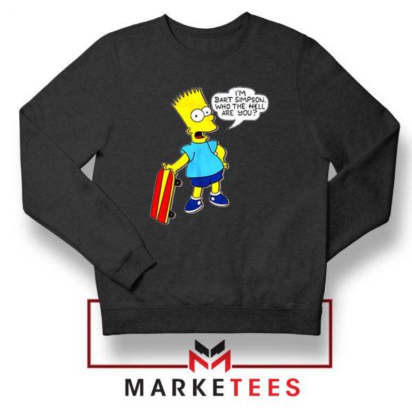 Bart Simpson Cartoon Black Sweatshirt