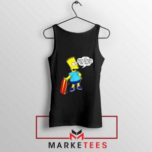 Bart Simpson Cartoon Black Tank Top