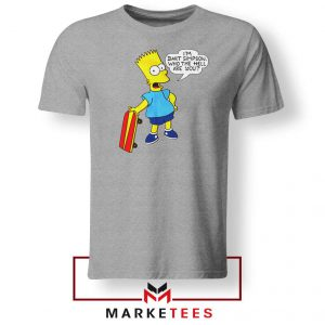 Bart Simpson Cartoon Grey Tee Shirt