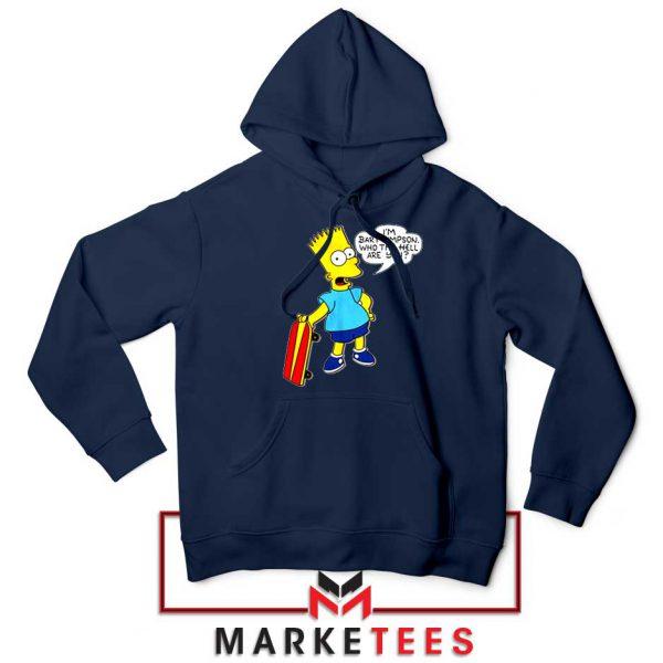 Bart Simpson Cartoon Navy Blue Hoodie