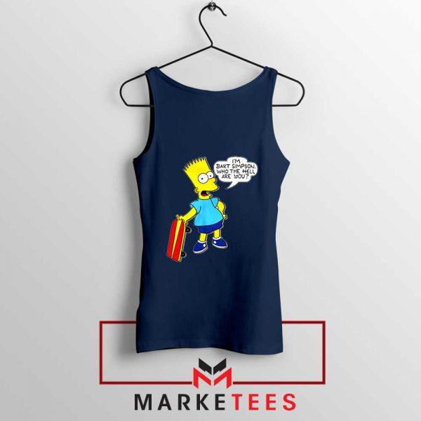 Bart Simpson Cartoon Navy Blue Tank Top