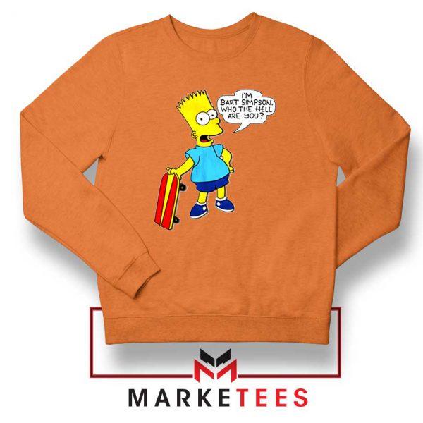 Bart Simpson Cartoon Orange Sweatshirt