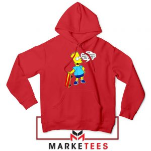 Bart Simpson Cartoon Red Hoodie