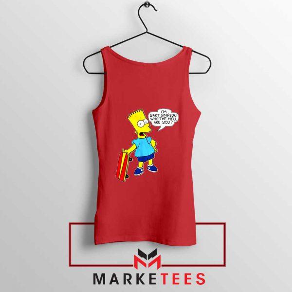 Bart Simpson Cartoon Red Tank Top