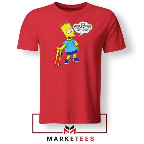 Bart Simpson Cartoon Red Tee Shirt