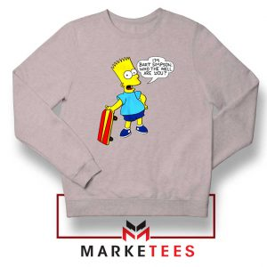 Bart Simpson Cartoon Sport Grey Sweatshirt