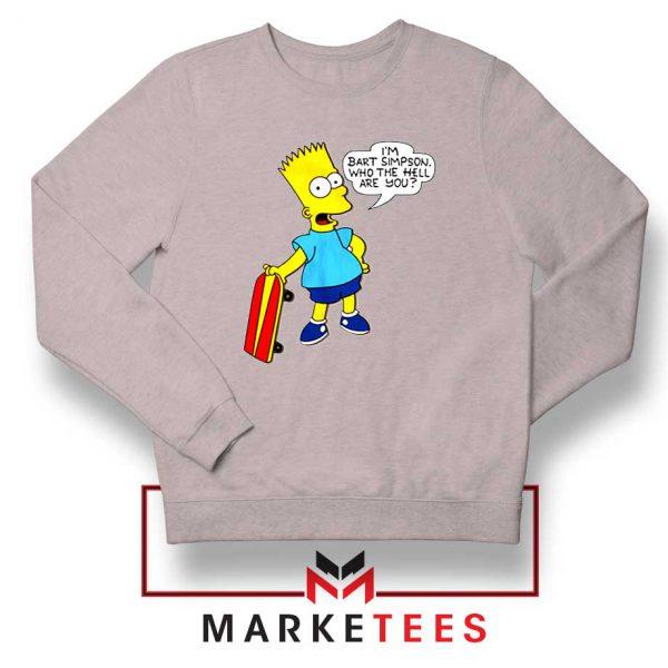 Bart Simpson Cartoon Sport Grey Sweatshirt