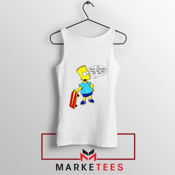 Bart Simpson Cartoon Tank Top