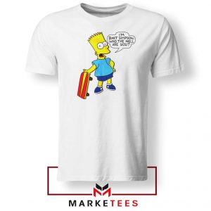 Bart Simpson Cartoon White Tee Shirt