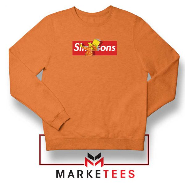 Bart Simpson Dub Supreme Orange Sweater