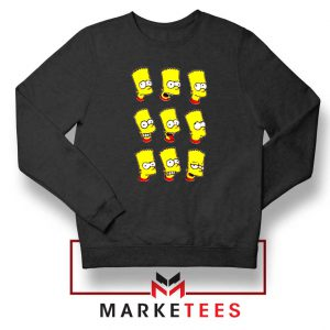 Bart Simpson Face Black Sweatshirt