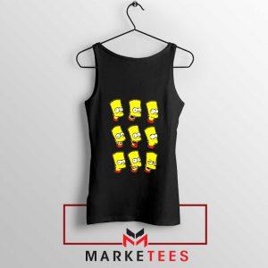 Bart Simpson Face Black Tank Top