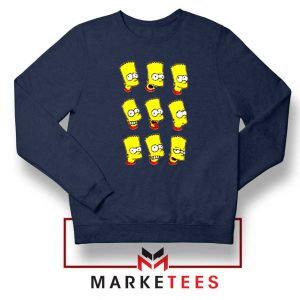 Bart Simpson Face Navy Sweatshirt