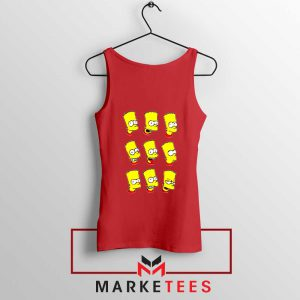 Bart Simpson Face Red Tank Top