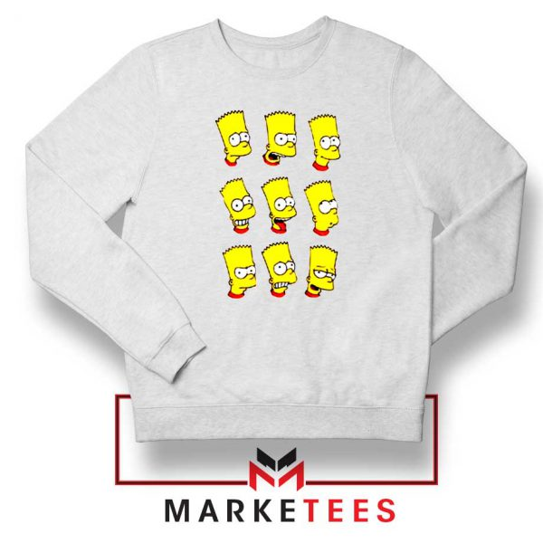 Bart Simpson Face Sweatshirt