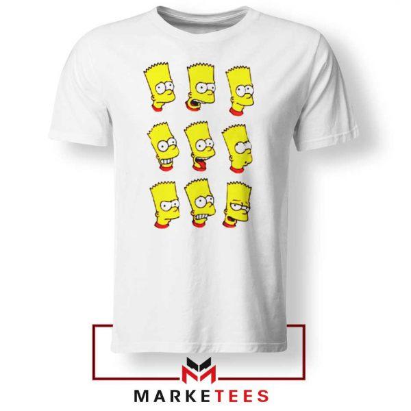 Bart Simpson Face White Tee Shirt