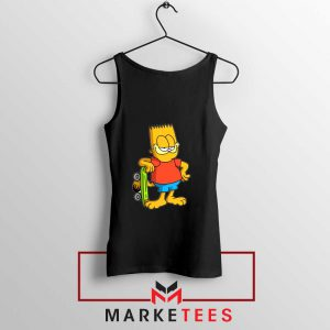 Bart Simpson Garfield Black Tank Top