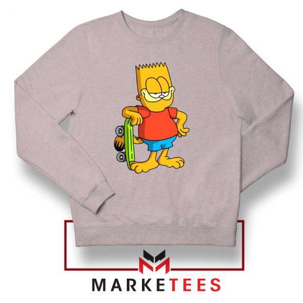 Bart Simpson Garfield Grey Sweatshirt