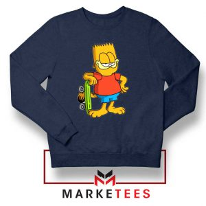 Bart Simpson Garfield Navy Blue Sweatshirt
