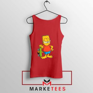 Bart Simpson Garfield Red Tank Top