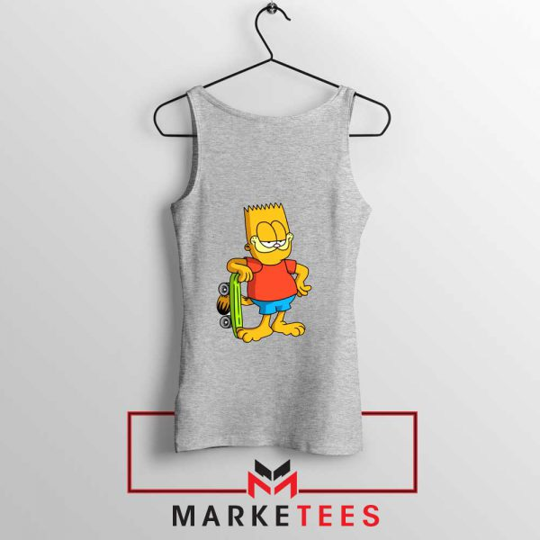 Bart Simpson Garfield Tank Top