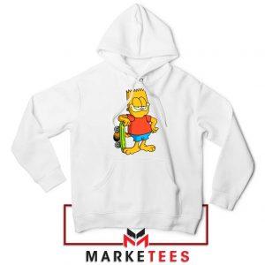 Bart Simpson Garfield White Hoodie