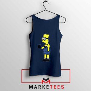 Bart Simpson Minion Navy Blue Tank Top