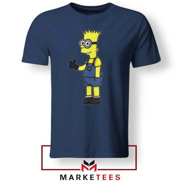 Bart Simpson Minion Navy Blue Tee Shirt