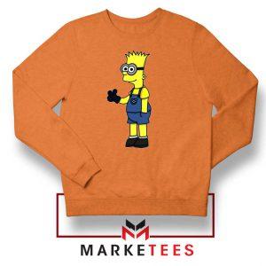 Bart Simpson Minion Orange Sweater