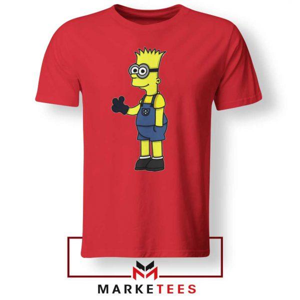 Bart Simpson Minion Red Tee Shirt