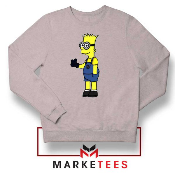 Bart Simpson Minion Sport Grey Sweater