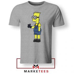 Bart Simpson Minion Sport Grey Tee Shirt