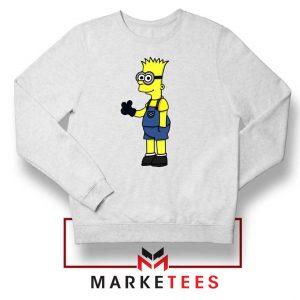 Bart Simpson Minion White Sweater