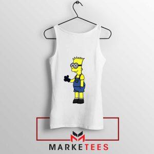 Bart Simpson Minion White Tank Top