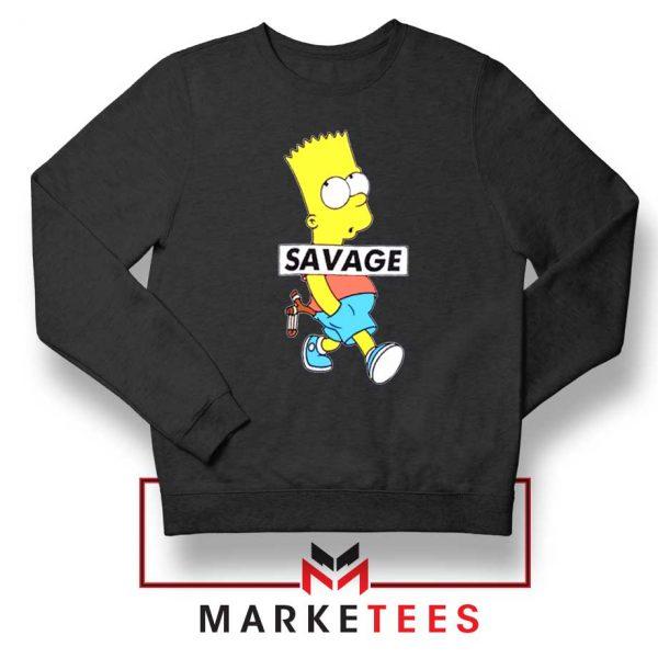 Bart Simpson Savage Black Sweatshirt