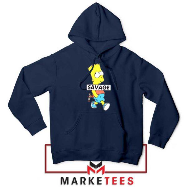 Bart Simpson Savage Navy Blue Hoodie